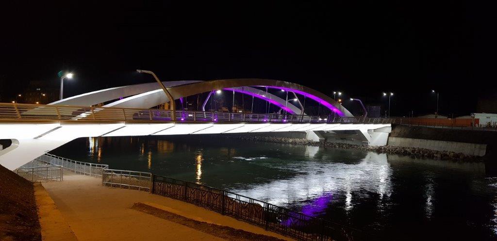 Borduri andezit Terragrey Light - Podul Centenarului Oradea